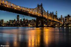 "Queensboro ""The Golden Bridge of NYC"" Bridgetown, Historical Sites, Tower Bridge, City Life, Manhattan, New York City, Brooklyn, Nyc, America"