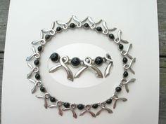 Sigi Pineda ~ Sterling & Obsidian ~ Vintage Taxco Necklace