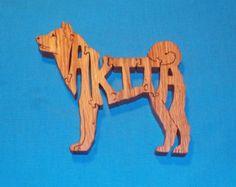 Dolphin Scroll Saw Patterns | Akita Dog Breed Scroll Saw Wooden P uzzle ...