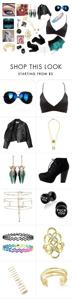 """""""Crystal"""" by beth-black ❤ liked on Polyvore featuring Charlotte Russe, Acne Studios, Levi's, Alexis Bittar, Vernissage, New Look, Accessorize, Catherine Malandrino, Forever 21 and Elizabeth and James"""