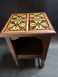 Monterey Classic Side Table With Hispano Moresque Tile Top F810 | Eric  Bergu0027s Early California Antiques