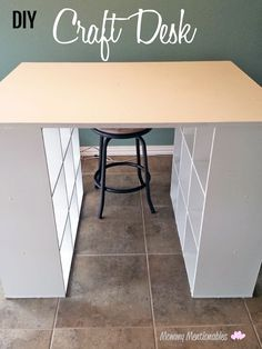 DIY Craft Table How To Make a Craft Desk with Cubicles Craft diy craft storage table - Diy Craft Table Craft Tables With Storage, Craft Room Storage, Table Storage, Craft Organization, Ikea Storage, Storage Ideas, Organizing Ideas, Craft Room Tables, Storage Cubes