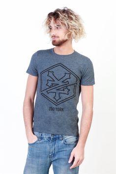 Camiseta de manga corta estampada en gris de Zoo York - BuyNowIn 4ba79e4c317a6