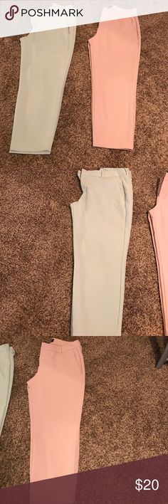 Old Navy Harper Mid Rise crop pants bundles Size 12 Regular - pink pants no flaws. Light blue pants has a small light orange/ brownish spot on front of pants! Old Navy Pants Ankle & Cropped