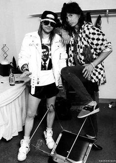 Axl & Steven. The scariest part of this pic is axl's shorts.