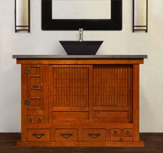 1000 images about zen vanities on pinterest vanities for Tansu bathroom vanity