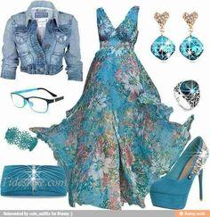 #blue #maxidress