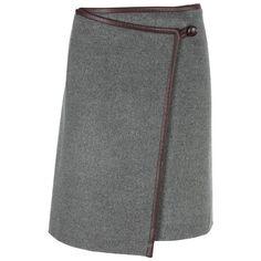 DKNY Grey/Brown Wrap Skirt
