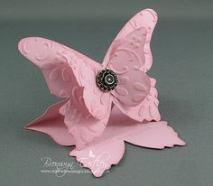 Large Butterfly Easel Card Tutorial by Bronwyn Eastley, addINKtive designs