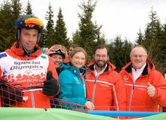 On March 18, 2017, Hereditary Grand Duke Guillaume and Hereditary Grand Duchess Stéphanie attend the opening ceremony of the '2017 Special Olympics World Winter Games' in Schladming, Austria.