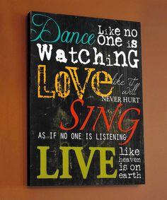 Another great find on #zulily! 'Dance' Wall Art #zulilyfinds