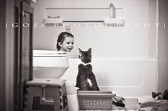 lifestyle photos. Just like Sonny, who supervises all baby baths