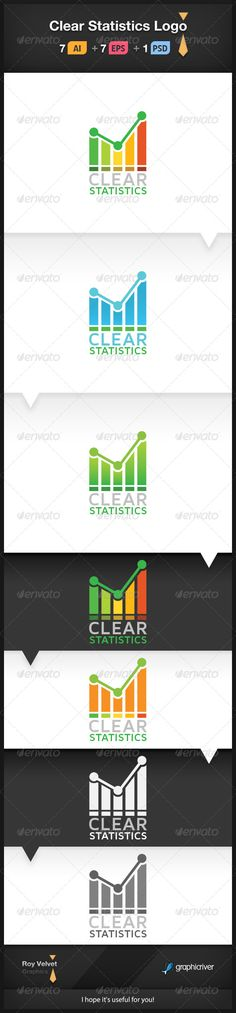 Buy Clear Statistics Logo by RoyVelvet on GraphicRiver. This is a great logo for analytics, statistics, data analysis, social surveys and any other business. Logo Design Template, Logo Templates, Ar Logo, Logo Ad, Great Logos, Vector Shapes, Symbol Logo, Modern Logo, Statistics