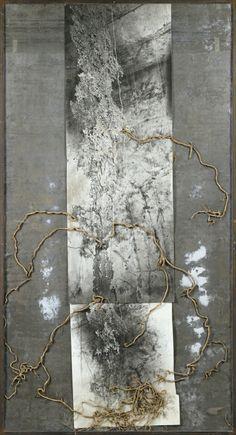 Artwork by Anselm Kiefer, Wurzel Jesse (Arbre de Jesse) Anselm Kiefer, Collage Art, Collages, Organic Art, Encaustic Art, Oeuvre D'art, Altered Art, Les Oeuvres, Statues