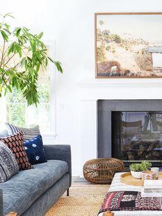 Home Tour: A Modern Bohemian Family Abode via @MyDomaine