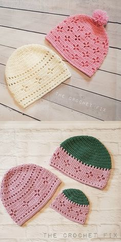 crochet hat patterns Vintage Vibes Beanie Hat Free Crochet Patterns - All sizes baby to adult Crochet Baby Hat Patterns, Crochet Beanie Pattern, Crochet Cap, Crochet Scarves, Crochet Stitches, Free Crochet, Crochet Preemie Hats, Easy Crochet Hat, Crochet Baby Beanie