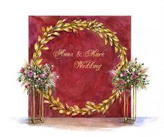 Абол Мария. Свадебные эскизы. Эскизы тортов. Декор