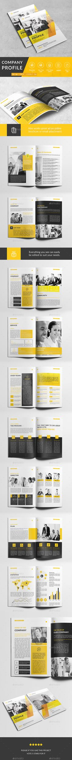 Company Profile  — PSD Template #inspiration #business #design • Download ➝ https://graphicriver.net/item/company-profile/18603748?ref=pxcr