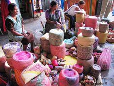 Baskets for sale at the Mercado Benito Juarez, #Oaxaca, #Mexico