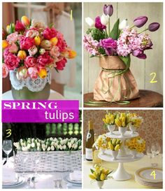 Paper Bag'd #Tulips - beautiful and cost effective!