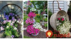 Nemusíte utrácať za drahé kvetináče: Úžasné nápady, ako pestovať kvety na vašej záhrade! Outdoor Plants, Indoor Outdoor, Window Boxes, Hanging Baskets, Clever Diy, Recycling, Outdoor Structures, Gardens, Fall Hanging Baskets