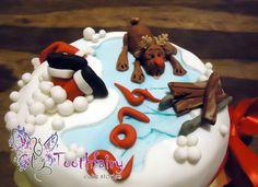 """""""Ho-Ho-Ho!...ouch"""" cake"""