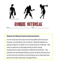 Students in grades 5 - 9 model the spread of an infectious disease under the entertaining theme of a zombie outbreak. One student unknowingly is patient zero and students simulate the spread of an airborne illness. This highly engaging activity covers health topics, nature of science, and math skills as students graph data in a line plot. Higher level students can be challenged to find the function of the exponential growth of the outbreak.