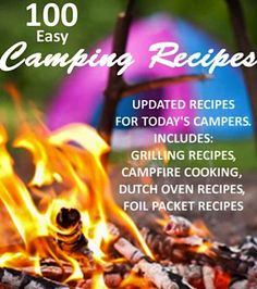 Free Kindle Book For A Limited Time : 100 Easy Camping Recipes - Preparing quick meals on camping trips is easy if you have the right recipes and ingredients. Just wait until you get any of the 100 recipes in this cookbook cooking over an open flame. Camping Grill, Camping Glamping, Camping And Hiking, Camping Meals, Camping Hacks, Camping Recipes, Camping Stuff, Camping Cooking, Camping Dishes
