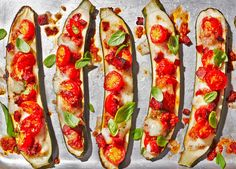 Gluten-free pizza recipe made in 30 minutes with roasted courgettes and loaded with chorizo, mozzarella and fresh basil
