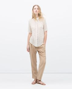 ZARA - WOMAN - TROUSERS WITH BOW