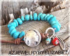 Turquoise Bracelet Southwestern Jewelry by AZJEWELRYBYELIZABETH
