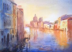 Cecil Rice watercolor, Venice