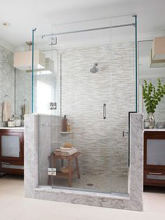 15 Stylish Seats for Walk-In Showers