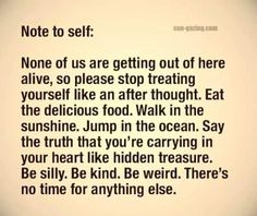note to self;
