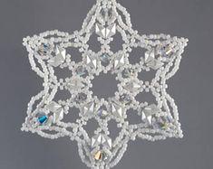 Hand Beaded kerst Ornament