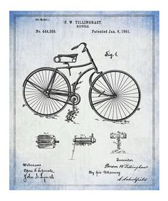 Look at this Oliver Gal Bicycle 1891 Print on #zulily today!