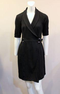 Ralph-Lauren-2-Black-Short-Sleeve-Wrap-Dress