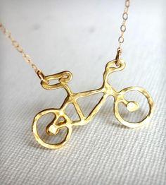 Petite Bike Necklace.
