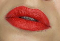 Two ways to sport MAC's Lady Danger lipstick