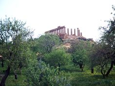 Ancient temple ruins in Agrigento, Italy