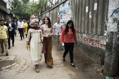 Crown Princess Mary is currently visiting Bangladesh along with Minister for Development Cooperation Ulla Tørnæs