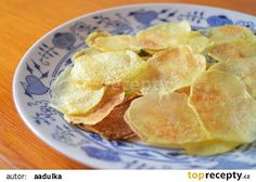 Chipsy z mikrovlnky recept - TopRecepty.cz Healthy Snacks, Microwave, Snack Recipes, Food And Drink, Chips, Nutrition, Lunch, Treats, Vegetables