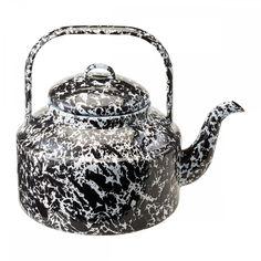 Marble enamelware teapot, Enamelware - MERCI