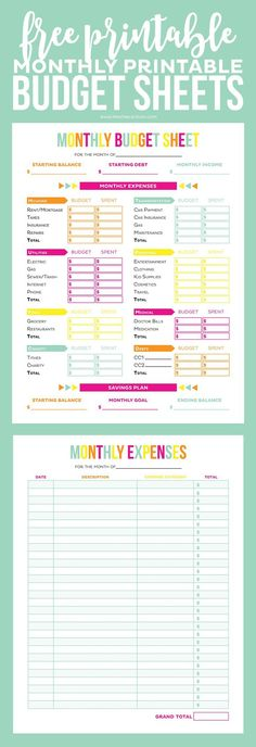 Get your finances in order with these Editable Printable Budget - blank expense report