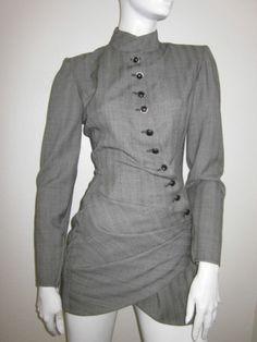 Vintage UNGARO Parallele Paris Sexy Gray Skirt Suit Size 4 | eBay