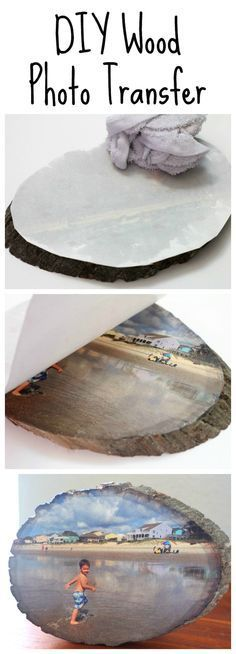 DIY Wood Slice Photo Transfer Learn how to easily transfer any photo onto a slice of wood using Silhouette temporary tattoo paper. The post DIY Wood Slice Photo Transfer appeared first on Wood Diy. Photo Projects, Diy Projects To Try, Crafts To Do, Wood Projects, Woodworking Projects, Craft Projects, Project Ideas, Woodworking Plans, Woodworking Furniture