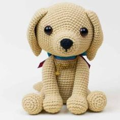 This cute lucky puppy amigurumi is just 15 cm tall. The difficulty range of the Lucky Puppy Amigurumi Pattern is medium. Crochet Patterns Free Women, Free Crochet, Crochet Ideas, Irish Crochet, Lucky Puppy, Pet Sweaters, Crochet Flower Headbands, Crochet Baby Bonnet, Kawaii Crochet