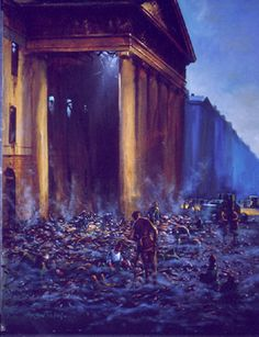 Norman Teeling | On View - Art Gallery - The 1916 Rising/The GPO Siege is Ended Dublin, Norman, Ireland, Art Gallery, Creativity, Party, Artist, Room, Painting