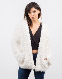 Open Faux Fur Jacket