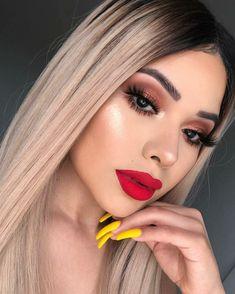 Gorgeous Makeup: Tips and Tricks With Eye Makeup and Eyeshadow – Makeup Design Ideas Glam Makeup, Bridal Makeup, Wedding Makeup, Hair Makeup, Gorgeous Makeup, Love Makeup, Makeup Inspo, Makeup Inspiration, Makeup Kit
